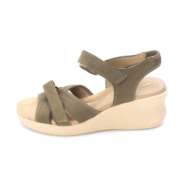 Easy Spirit Womens Gaffney Leather Open Toe Casual Ankle Strap Sandals - 7