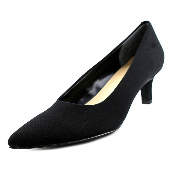Ros Hommerson Kendra Women Pointed Toe Synthetic Black Heels