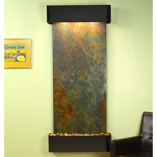 Adagio Inspiration Falls With Rajah Natural Slate in Blackened Copper Finish and
