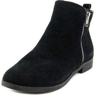 Steve Madden Reyyna Women Round Toe Suede Black Ankle Boot
