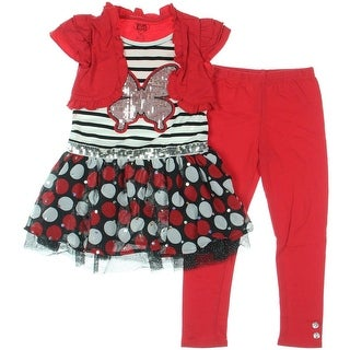 Young Hearts Girls Sequined 2PC Casual Dress