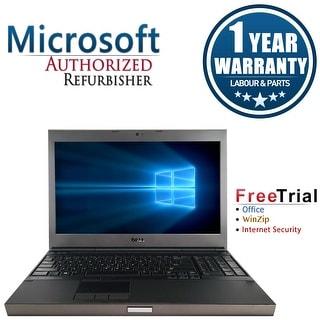 Refurbished Dell Precision M4600 15.6'' Laptop Intel Core i7-2720QM 2.2G 4G DDR3 1TB DVD Win 10 Pro 1 Year Warranty - Black