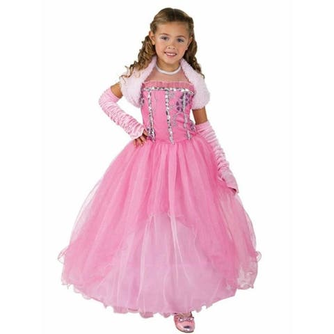 Princess Shirley Girls size S 4/6 Pink Dress Costume Outfit Rubie's