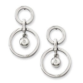 Chisel Stainless Steel CZ Earrings