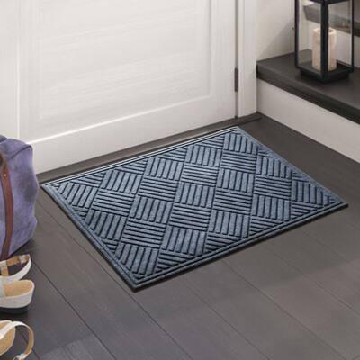 A1HC Water retainer Indoor/Outdoor Doormat, 2' x 3', Skid Resistant, Easy to Clean, Catches Water and Debris