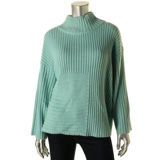 Vince Camuto Womens Ribbed Pullover Pullover Sweater