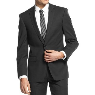 DKNY Mens Two-Button Blazer Wool Slim Fit