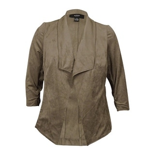 Alfani Women's Faux Suede Draped Jacket