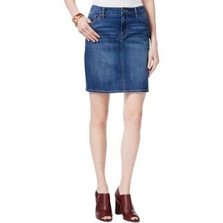 Tommy Hilfiger Womens Mini Skirt Sand Blasted Medium Wash
