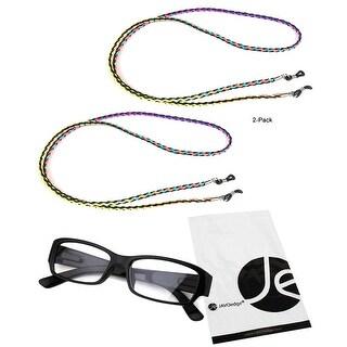 JAVOedge (2 PACK) Retro Weaving Eyeglass / Sunglasses Neck Strap Cord - multi-color