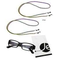 JAVOedge (2 PACK) Retro Weaving Eyeglass / Sunglasses Neck Strap Cord - multi-color