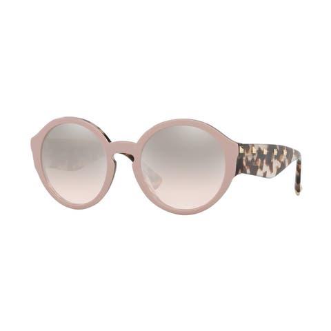 Valentino VA4047 51228Z 52 Poudre/havana Brown Beige Woman Round Sunglasses