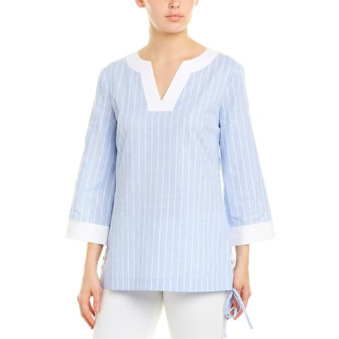 Brooks Brothers Linen-Blend Tunic