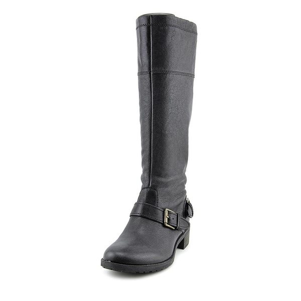 Naturalizer Macnair Women  Round Toe Leather Black Knee High Boot