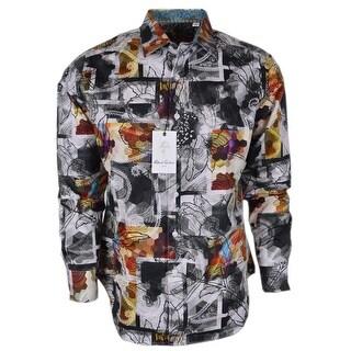 Robert Graham AMBERWOOD Paisley Lace Fall Leaves Classic Fit Sports Shirt