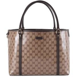 NEW Gucci Women's 265695 Crystal Canvas Guccissima GG Joy Purse Handbag Tote