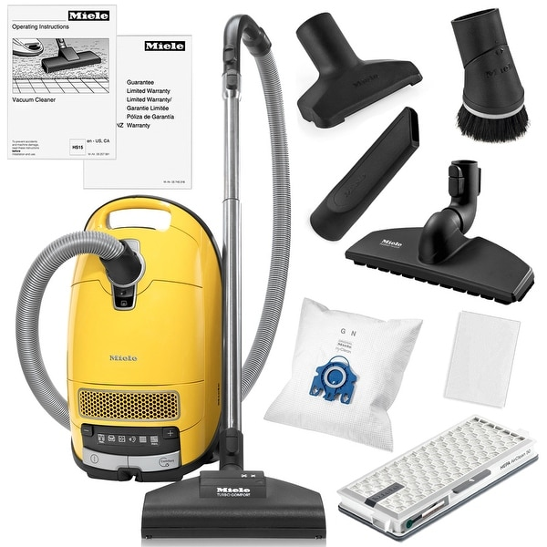 Miele Complete C3 Calima Canister Vacuum Cleaner + STB 205-3 Turbobrush + SBB-300 Parquet Floor Brush + More