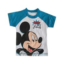 "Disney Little Boys White Sky Blue ""Original Pal"" Mickey Print T-Shirt"