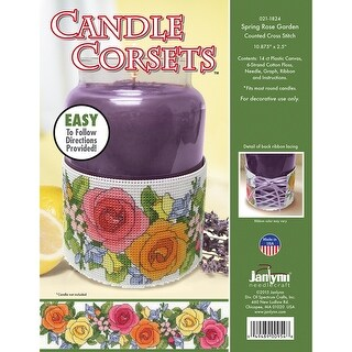 Candle Corsets Spring Rose Garden Plastic Canvas Kit-10.875""
