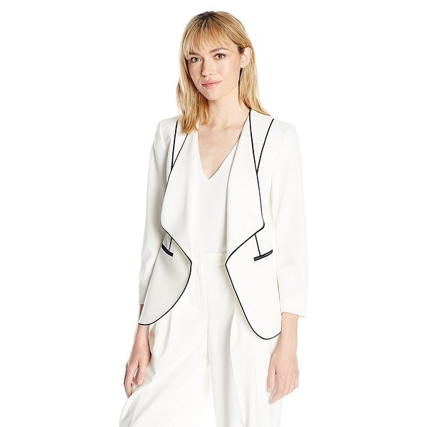 Nine West Draped Piped Blazer Jacket - 10