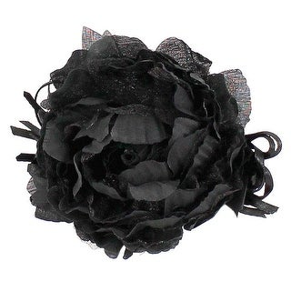 Bright Eyes Shimmer Organza and Ribbon Flower Clip or Pin