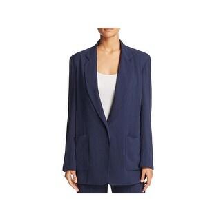 DKNY Womens Blazer 1 Button Notch Collar
