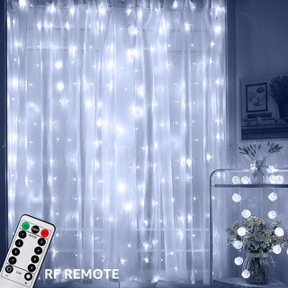 Link to 600 LEDs Window Curtain String Lights, RF Controller, 8 Lighting Modes, Daylight Similar Items in String Lights