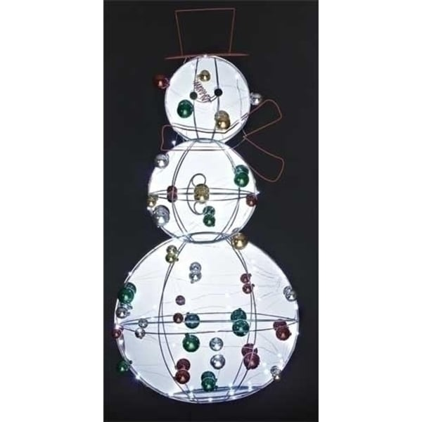 """36.25"""" Jolly Winter Snowman with Ornaments LED Lighted Christmas Outdoor Decor - multi"""