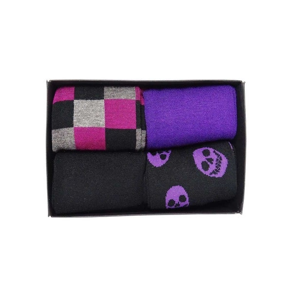 Alfani Men's 4PK Spectrum Box Set Crew Socks (Purple, 10-13) - Purple - 10-13