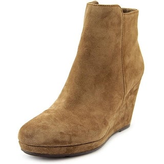 Via Spiga Darina Women Round Toe Suede Brown Ankle Boot