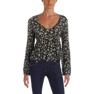 Denim & Supply Ralph Lauren Womens Blouse Woven Floral Print