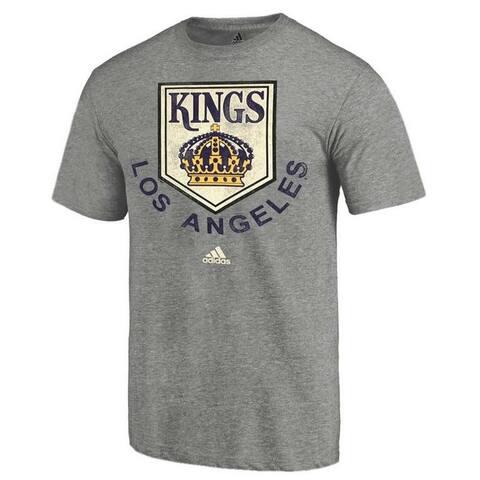 Adidas Men's Los Angeles Kings NHL Hockey League Tee Shirt Heritage LK16HOY - Gray