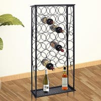 vidaXL Metal Wine Rack Stand for 28 Bottles
