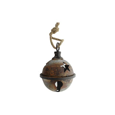 Fuz 29 spc metal jingle bell 5 with star cut out rust