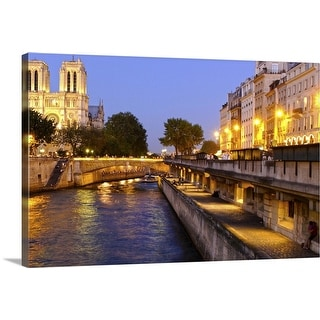 """""""Night View  Notre Dame"""" Canvas Wall Art"""