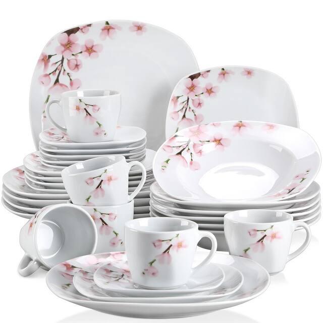 VEWEET 'Annie' Floral Dinnerware Set (Service for 6) - 30 Piece