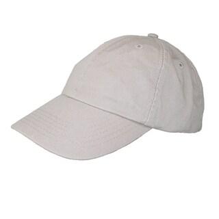 CTM® Cotton Basic Lightweight Baseball Cap (Option: Khaki)