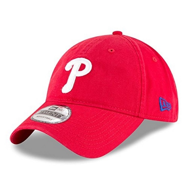 huge selection of a48a8 c8f5e Shop New Era Mens Philadelphia Phillies Core Classic 9Twenty Adjustable Hat,  Red, Os - Red - Free Shipping On Orders Over  45 - Overstock - 22200163