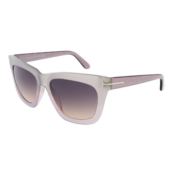 Tom Ford FT0361/S 80B Celina Silver Pearl Square Sunglasses - 55-18-140