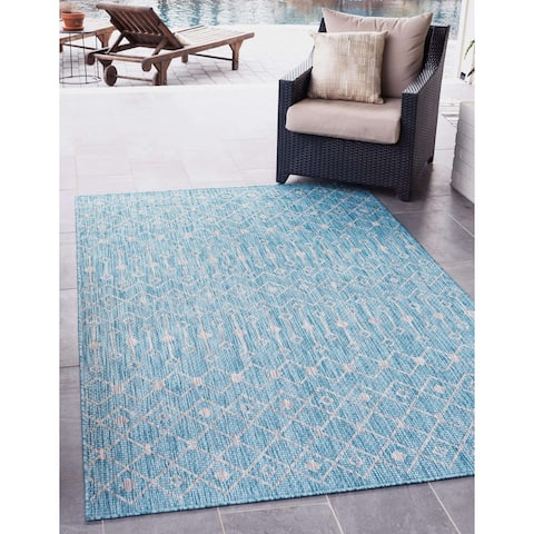 Unique Loom Outdoor Tribal Trellis Rug