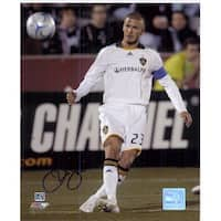Signed Beckham David LA Galaxy 8x10 Photo autographed