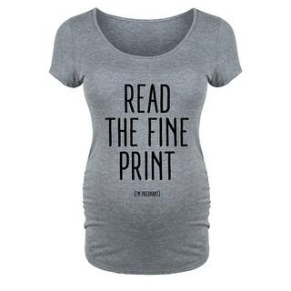 Read The Fine Print - Maternity Scoop Neck Tee