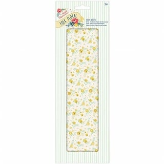 Docrafts Papermania Folk Floral Deco Sheets - Yellow Wildflowers