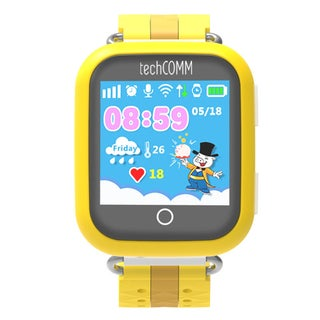 TechComm TD-10 Kids Smartwatch with Touch Screen, Fitness Tracker and GPS for T-Mobile ONLY (Option: Yellow)
