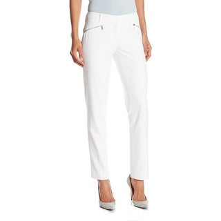 Calvin Klein NEW White Women's Size 16 Zippered Cropped Dress Pants