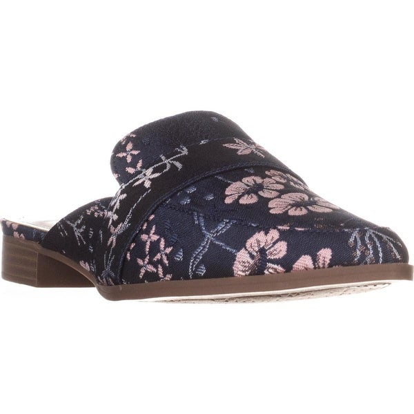 Charles by Charles David Emma Flat Mules, Navy Multi Floral - 6 us