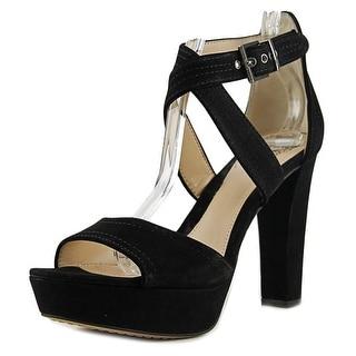 Vince Camuto Shayla Women  Open Toe Suede Black Platform Heel