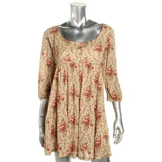 Denim & Supply Ralph Lauren Womens Casual Dress Floral Print 3/4 Sleeves - m