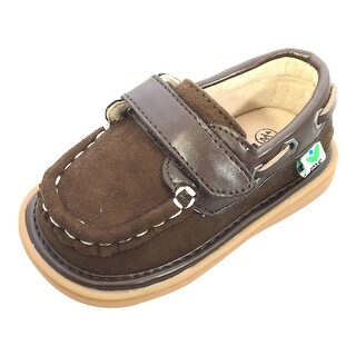 Mooshu Trainers Little Boys Chocolate Squeaky Boat Sawyer Shoes