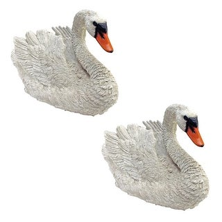 Design Toscano White Swan Statues: Set of Two